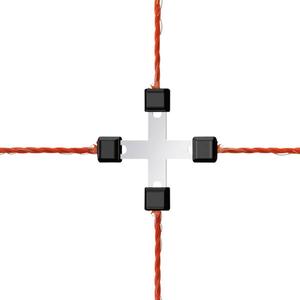 Litzen Kreuzverbinder LitzClip, verzinkt, 5 Stück Kerbl