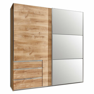 Schwebetürenschrank - Plankeneiche - 250 cm breit - 0424006200