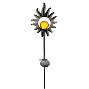 I-Glow LED Solar-Vintage Gartenleuchte, Blume