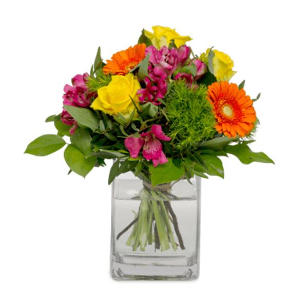 Fröhlicher Blumengruß