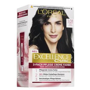 L'Oréal Paris Excellence Creme 1.01 tiefes schwarz