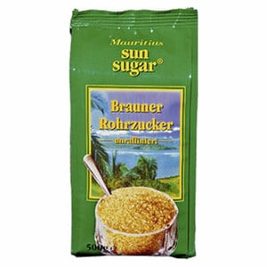 Mauritius Brauner Rohrzucker unraffiniert, jede 500-g-Packung