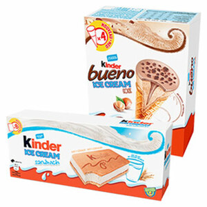 Kinder Ice Cream versch. Sorten, jede 360/480-ml-Packung
