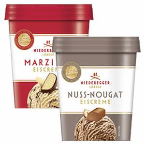 Niederegger Eiscreme Marzipan oder Nuss-Nougat, jeder 500-ml-Becher