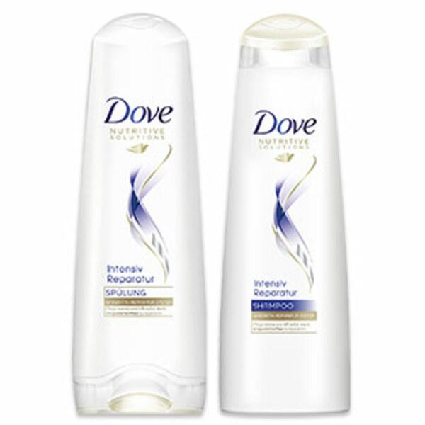 Dove Shampoo oder Spülung versch.Sorten je 250/200-ml Flasche