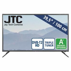 "39,5""-FullHD-LED-TV Atlantis 4.0 • 3 HDMI-/2 USB-Anschlüsse, CI+ • Stand-by: 0,5 Watt, Betrieb: 46 Watt • Maße: H 52,2 x B 91,1 x T 9,5 cm • Energie-Effizienz A+ (Spektrum A++ bis E)"