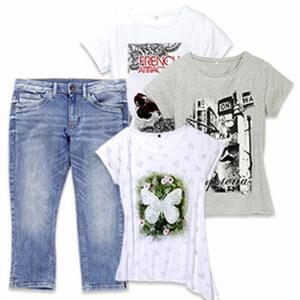Damen-Shirt oder -Capri-Jeans Größe: S - XXL oder 36- 46