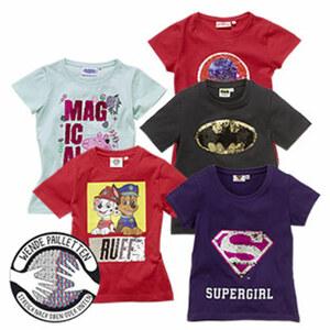 Kinder-T-Shirt mit Wendepailletten, Größe: 98 - 128, je