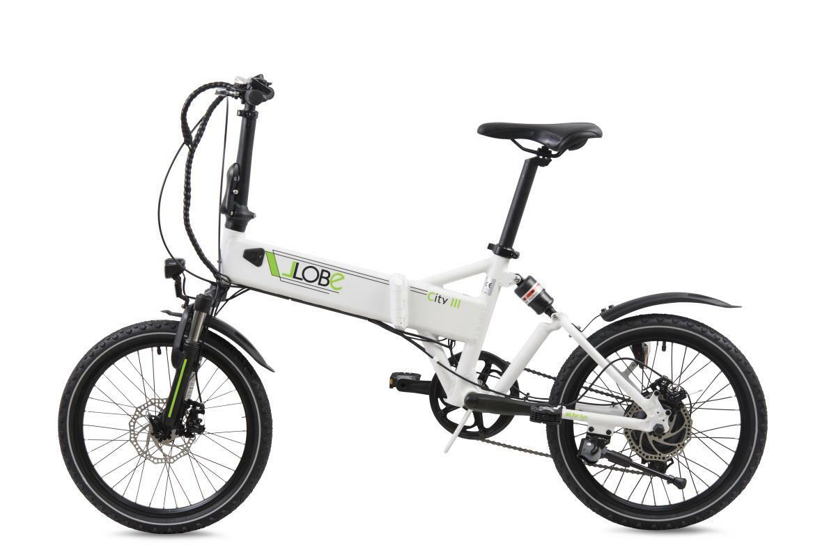 "Bild 1 von Llobe E-Bike 20"" Alu Faltrad City III, Weiß"