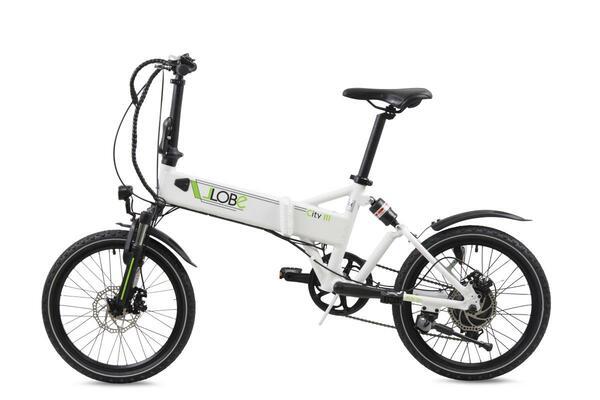 """Llobe E-Bike 20"""" Alu Faltrad City III, Weiß"""