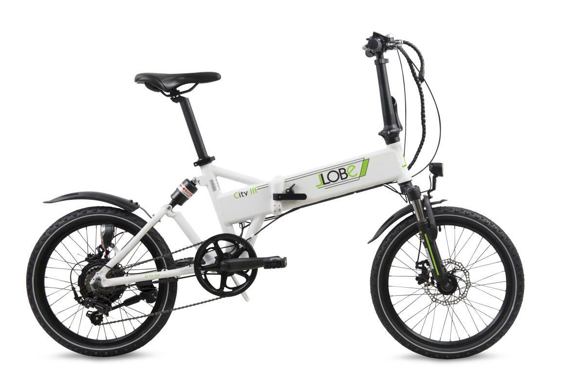 "Bild 2 von Llobe E-Bike 20"" Alu Faltrad City III, Weiß"