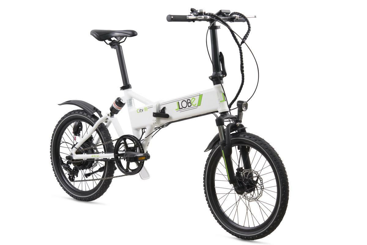 "Bild 3 von Llobe E-Bike 20"" Alu Faltrad City III, Weiß"