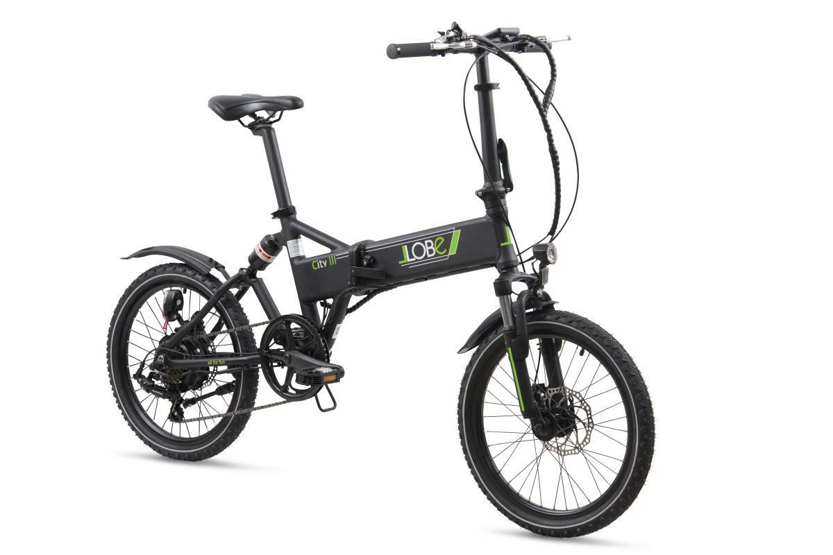 """Bild 1 von Llobe E-Bike 20"""" Alu Faltrad City III, Schwarz"""