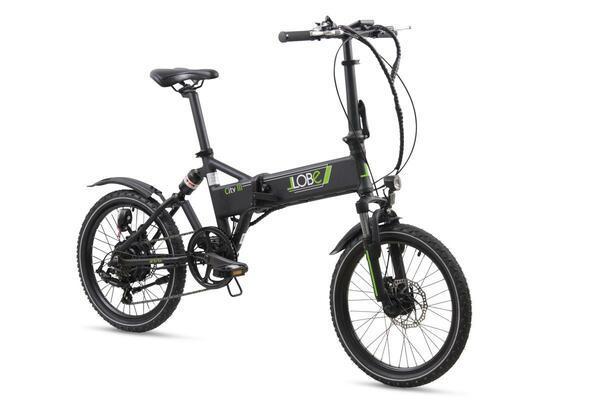 """Llobe E-Bike 20"""" Alu Faltrad City III, Schwarz"""