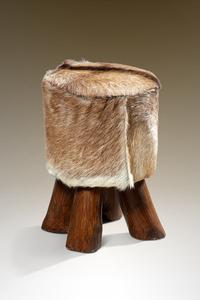 BHP Möbel Lederhocker, Ziegenfell - Maße: 300 cm x 300 cm x 450 cm; B414022
