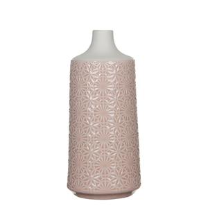 Mica Decorations Paddle Vase rund rosa - h25xd11,5cm; 1044042