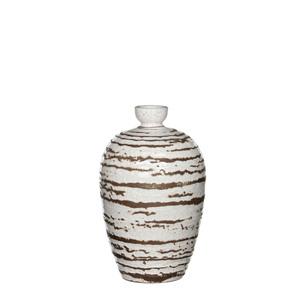 Mica Decorations Vesper Flasche rund off white - h30xd18cm; 1006887