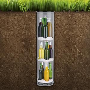 EASYmaxx Flaschenkuehler Kuehlschrank 15 Flaschen Garten Outdoor Boden Bierkuehler