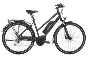 Fischer Trekking-Damen-E-Bike ETD 1861.1, 28 Zoll, schwarz matt, Rahmenhöhe: ca. 49cm