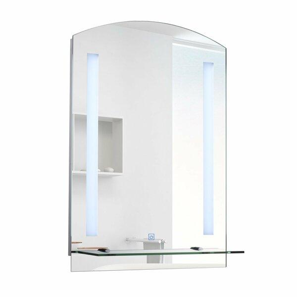 HOMCOM Badspiegel Wandspiegel | Badspiegel LED Lichtspiegel  Badezimmerspiegel silber 70 x 50 x 4 cm (LxBxH) | Spiegel Badspiegel LED  Lichtspiegel ...