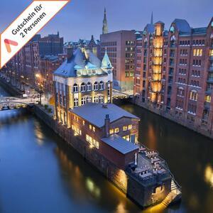 Kurzurlaub Hamburg 3 Tage 4 Sterne Hotel Panorama für 2 Personen Hotelgutschein - Die Zustellung erfolgt per E-Mail