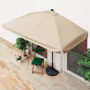 EASYmaxx Sonnenschirm rechteckig Hauswand Balkon UV-Schutz 40+ Beige 230x140