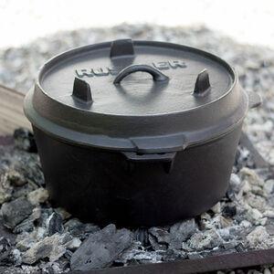 Rustler Dutch Oven Feuertopf Kochtopf Kessel Gusseisen Camping Topf Bräter 8l