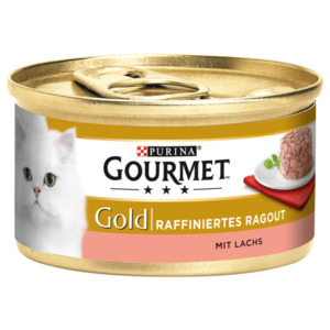 Purina Gourmet Katzenfutter Gold Raffiniertes Ragout Lachs 85g