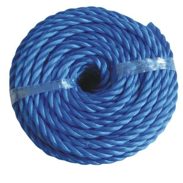 Polypropylen PP Seil 12mmx20m blau Kunststoffseil schwimmfähig Leine Tauwerk Tau