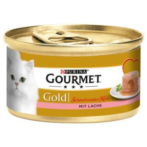 Purina Gourmet Gold Schmelzkern mit Lachs 85g