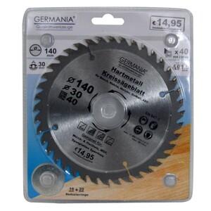 Germania Hartmetall Kreissägeblatt Ø 140 mm Holz