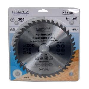Germania Hartmetall Kreissägeblatt Ø 200 mm Holz