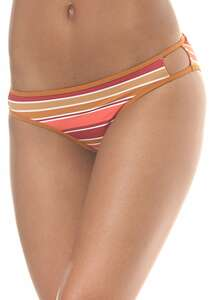 RVCA Stripe Type Medium - Bikini Hose für Damen - Orange