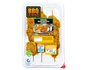 BBQ Hähnchen-Medaillonspieße*