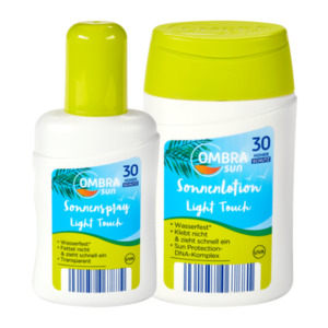 OMBRA  	   Light Touch Sonnenspray / -lotion