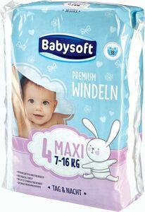 Babysoft Premium Windeln Gr. 4 Maxi, 38 Stück