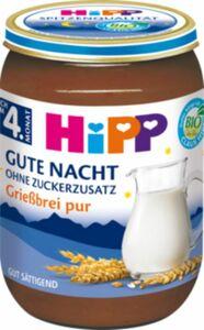 HiPP Bio Gute Nacht Grießbrei pur ab dem 4. Monat, 190g