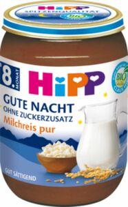 HiPP Bio Gute Nacht Milchreis pur ab dem 8. Monat, 190g