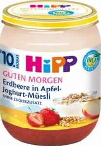 HiPP Bio Guten Morgen Erdbeere in Apfel-Joghurt-Müsli 160g, ab dem 10. ...