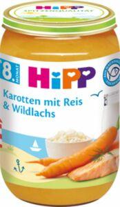 HiPP Bio Karotten mit Reis und Wildlachs, 220 g