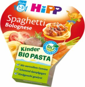 HiPP Bio Schale Spaghetti Bolognese 1-3 Jahre, 250g