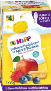 HiPP Bio Quetschen Erdbeere-Heidelbeere nach dem 4. Monat, 4 x 90 g
