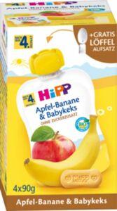 HiPP Bio Quetschen Apfel-Banane nach dem 4. Monat, 4 x 90 g