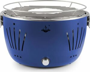El Fuego USB-Tisch-Holzkohlegrill Tulsa inkl. Tragetasche, blau