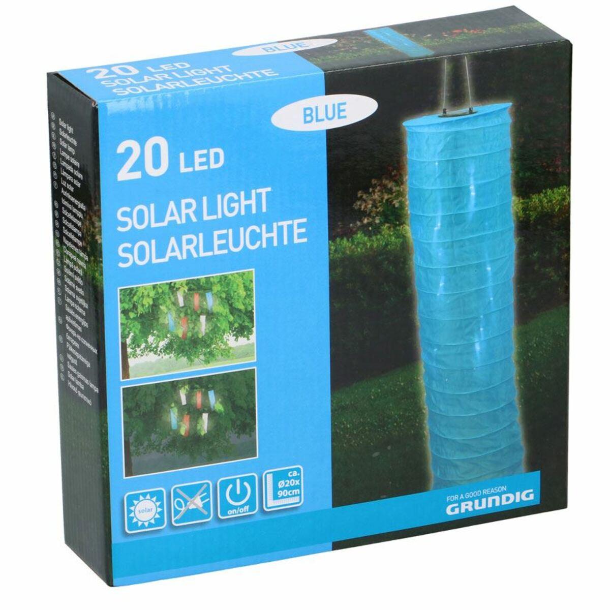 Bild 3 von Grundig Solar-Laterne Solaire 20 LEDs Blau