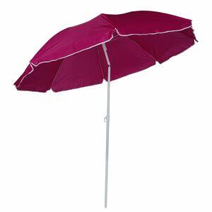 Sonnenschirm mit Knickgelenk 200x190cm Beere, beschichtetes Metallgestell, Schirmbespannung aus 100% Polyester, Gewicht: ca. 1,06kg