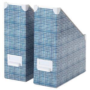 FJÄLLA                                Zeitschriftensammler, weiß, blau