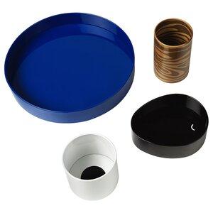 FÖRNYAD                                Schreibtisch-Set 4-tlg., blau