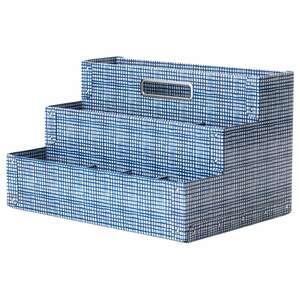 FJÄLLA                                Schreibutensilienfach, weiß, blau, 35x21 cm