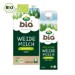 Arla Frische Bio Weidemilch oder Bio H-Weidemilch 3,8 %